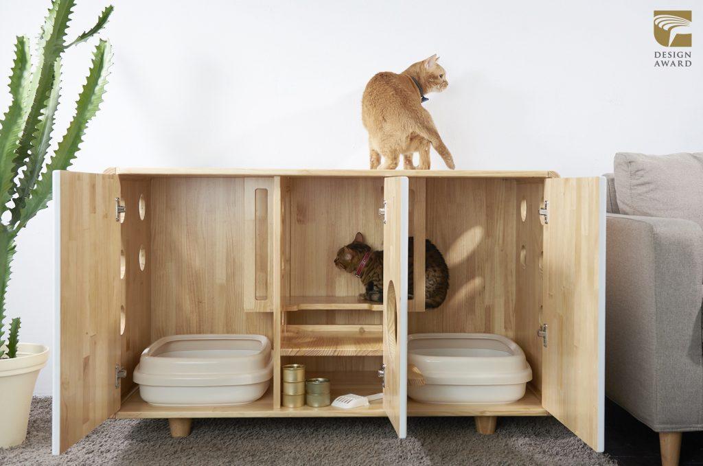 《原木圓角貓砂櫃》(拍拍文創,產品設計類,台灣)_01