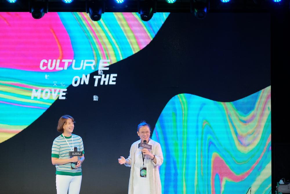 General Curator Tammy Chen-Jung Liu (left) and U-Theatre Artistic Director Liu Rou-Yu (right)