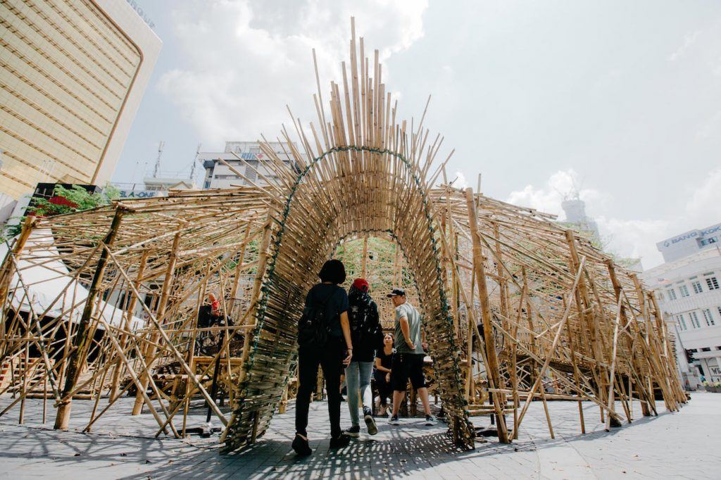 HuRu-HaRa Kubah by Andi Ramdani - Interactive Bamboo Installation at Medan Pasar