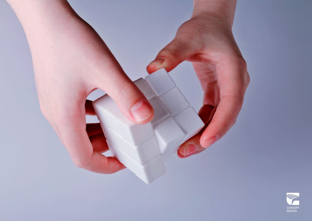 """""""White"""" Tactile Cube"""